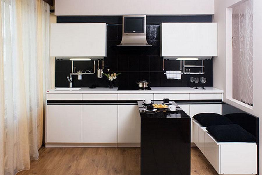 Кухни с черными столешницами фотогаллерея кухонный стол из камня Астапово