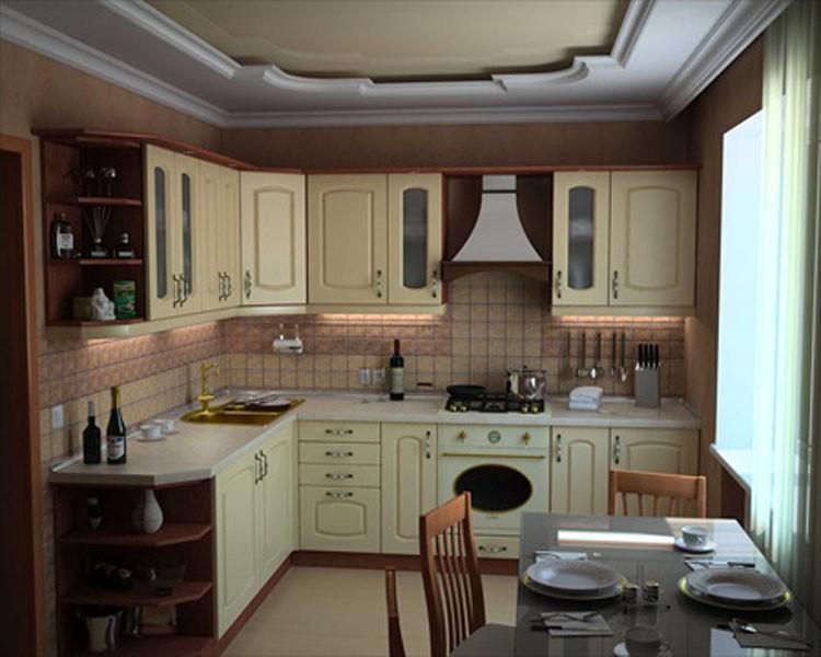 Интерьер кухни красный