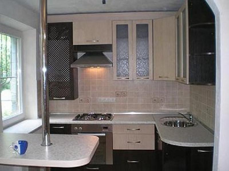 интерьер кухни 8 кв м в панельном доме фото